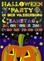 Kinder Halloween in der Wasserburg Bad Vilbel, 31.10 ab 17 Uhr!